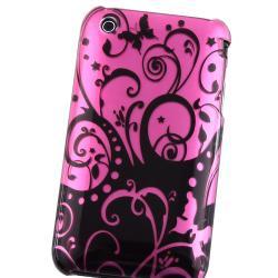 Purple/ Black Swirl Snap-on Case for Apple iPhone 3G/ 3GS
