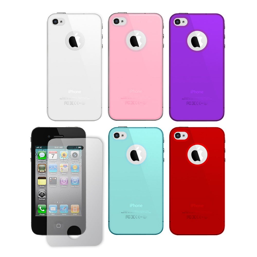 Apple iPhone 4 / 4S Premium Crystal Skin Case with Screen Protector