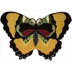 Nourison Hand Tufted Yellow Butterfly Wool Rug (2' x 3')