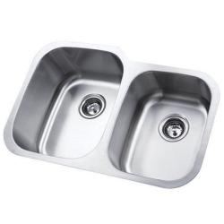 Stainless Steel 31.5-inch Undermount Double Bowl Kitchen Sink