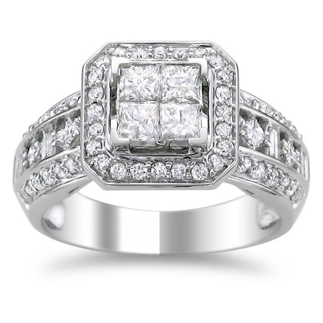 14k White Gold 1 1/4ct TDW Diamond Composite Engagement Ring (H-I, I1-I2)