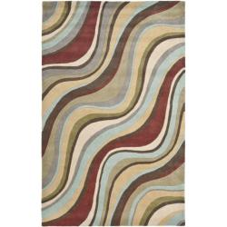 Handmade Soho Waves New Zealand Wool Rug (3'6 x 5'6')