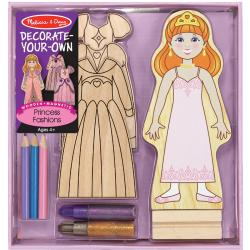 Decorate Your Own Wooden Magnetic Princess Fashions