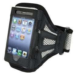 BasAcc Black/ Silver Armband for Apple iPhone 4S/ 3GS/ iPod touch