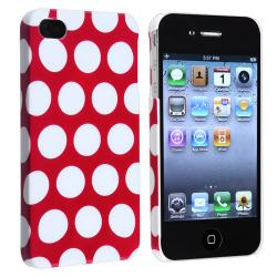 BasAcc Red with White Dot Snap-on Case for Apple iPhone 4/ 4S
