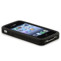 BasAcc Black/ Smoke Checker Hybrid Case for Apple iPhone 4/ 4S
