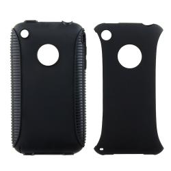 BasAcc Black TPU/ Black Plastic Hybrid Case for Apple iPhone 3G/ 3GS