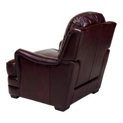Giorgio Burgundy Leather Club Chair