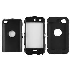 Black/ Black Hybrid Case for Apple iPod Touch 4th Generation