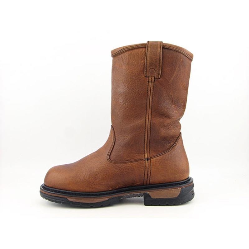 "Rocky Men's Iron Clad Wellington 11"" Brown Boots"