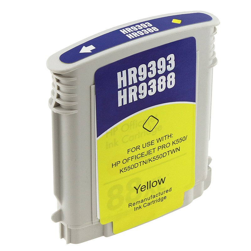 HP 88XL/ C9393AN/ C9388AN Yellow Ink Cartridge (Remanufactured)