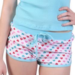 Journee Collection Junior's Knit Heart Detail Tank/ Short Set