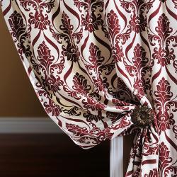 Classique Wine Printed Cotton 96-inch Curtain Panel