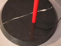 Nova 'Ibis' Red Arc Floor Lamp