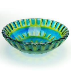 Fontaine Blue Glass Vessel Sink