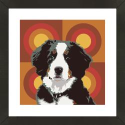 Framed Sheep Dog Giclee Print Photo