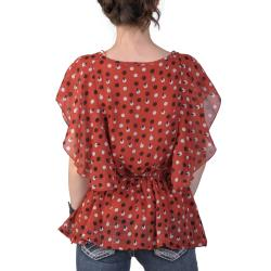 Journee Collection Women's Contemporary Plus Print Chiffon Top