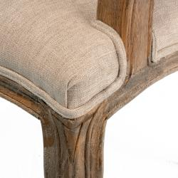 Christopher Knight Home Jules Weathered Hardwood Tufted Beige Arm Chair
