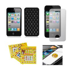 Apple iPhone 4/ 4S Sparkling Rhinestone Rubberized Designer Case