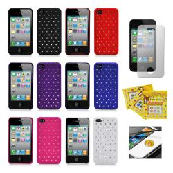 Apple iPhone 4/ 4S Sparkling Rhinestone Rubberized Designer Case