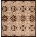 Woven Tan Cladagh Indoor/Outdoor Moroccan Lattice Rug (7&#39;6 Square)