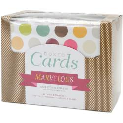 Box Of Patterned Cards With Envelopes 4&quot;X6&quot; 40/Pkg-Assorted 10 Designs/4 Each