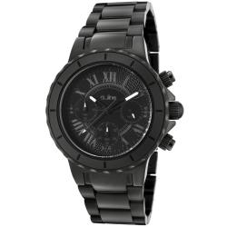 Women's 'Marina' Chrono Black Textured Dial Black Watch