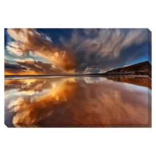 Reflection on the Beach Oversized Gallery Wrapped Canvas