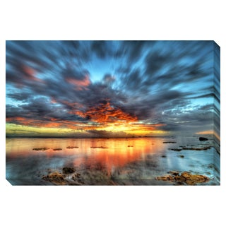 Sunset over the Lagoon Oversized Gallery Wrapped Canvas
