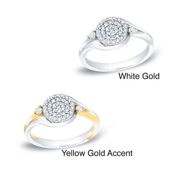 Auriya 14k Gold 1/4ct TDW Diamond Cluster Ring (H-I, I1-I2)