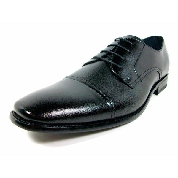 Delli Aldo Men's Leatherette Lace-up Oxford Dress Shoes