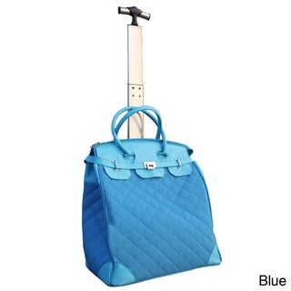 Traveler's Club Ultra Chic 18-inch Quilted Rolling Tote with Laptop Compartment