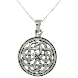 CGC Silver Eternal Celtic Knot Pendant on 18-inch Necklace