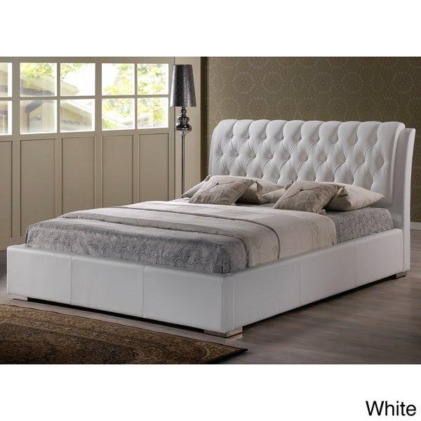 Baxton Studio Bianca White Modern Full-size Tufted Headboard/ Bed