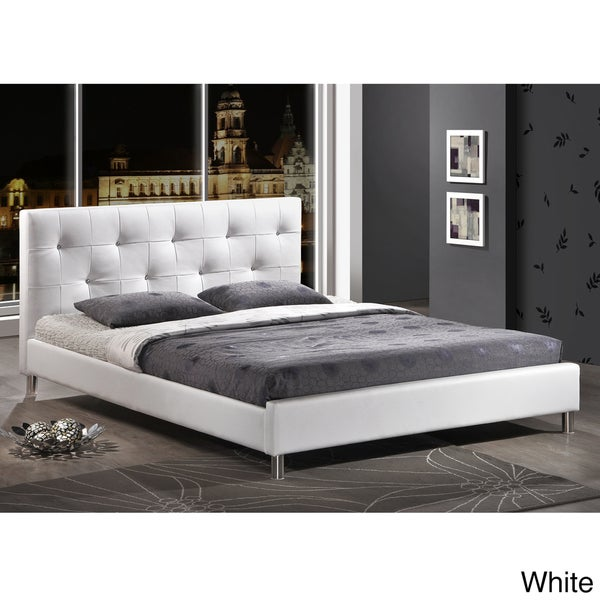 Barbara Modern Full-size Bed with Crystal Button Tufting