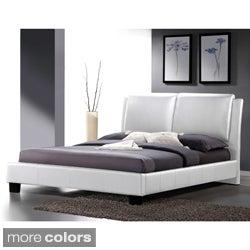Baxton Studio Sabrina White Modern Full-sized Bed with Overstuffed Headboard