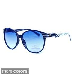 DASEIN by Anais Gvani Women's Round Stripe Sunglasses