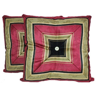 RLF HOME Nigel Stripe Onyx Throw Pillows (Set of 2)