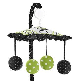 Sweet JoJo Designs Spirodot Lime and Black Musical Mobile