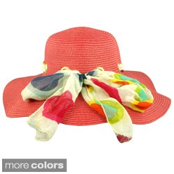 Faddism Women Summer Hat with Fashionable Ribbon