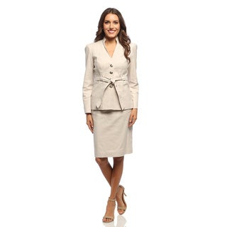 Sharagano Suits Women's Fashion Stretch Skirt Suit