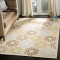 Martha Stewart Quilt Cream Cotton Rug (3'9 x 5'9)