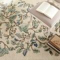 Martha Stewart Autumn Woods Colonial Blue Wool/ Viscose Rug (2'6 x 4'3)