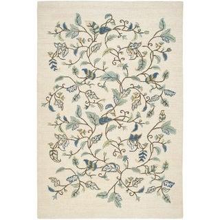 Martha Stewart Autumn Woods Colonial Blue Wool/ Viscose Rug (8'x 10')