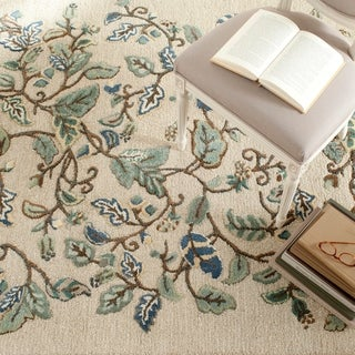 Martha Stewart Autumn Woods Colonial Blue Wool/ Viscose Rug (9'x 12')