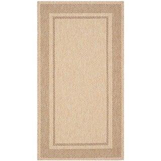 Martha Stewart Color Frame Sand/ Coffee Indoor/ Outdoor Rug (2'7 x 5')