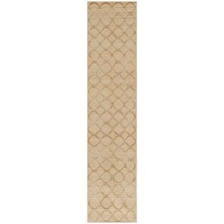 Martha Stewart Quatrefoil Curry Silk/ Wool Rug (2'3 x 10')