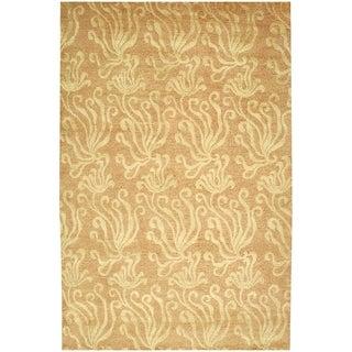 Martha Stewart Seaflora Corraline Silk/ Wool Rug (8'6 x 11'6)