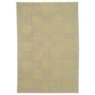 Martha Stewart Medallions Quartz Silk/ Wool Rug (8'6 x 11'6)