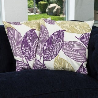 Christopher Knight Home 18-inch Linen Frawns Pillows (Set of 2)